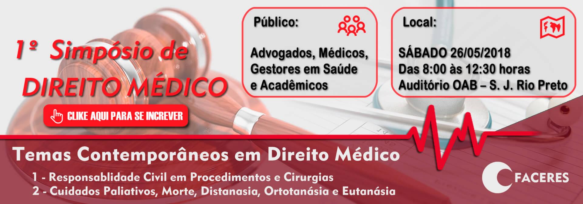 1º Simpósio de Direito Médico