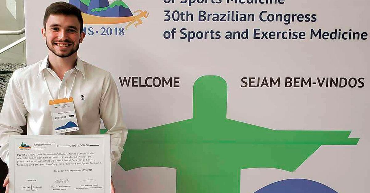 Pesquisa da FACERES é premiada em Congresso Brasileiro e  Mundial de Medicina Esportiva