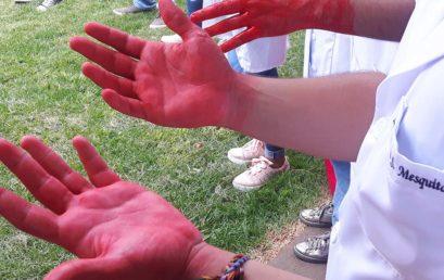 """Campanha """"Higienização das mãos"""" mobiliza alunos, professores e funcionários da FACERES"""