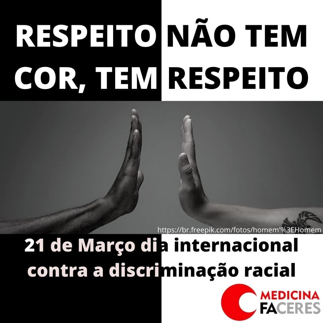 Posts produzidos por acadêmicos da FACERES ilustram campanha Internacional contra Discriminação Racial