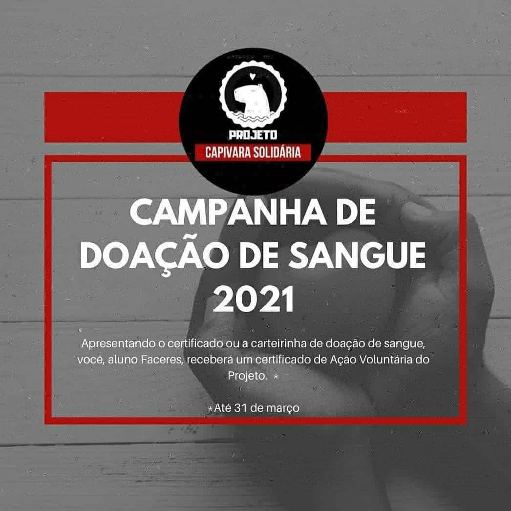 Campanha doação de sangue 2021