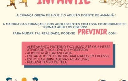 Campanha alerta sobre riscos, orientação e conscientização sobre Obesidade Infantil